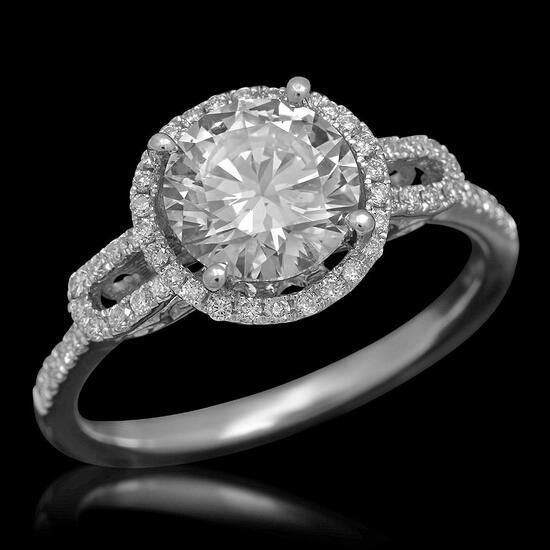 14K Gold 1.79ct Diamond Ring