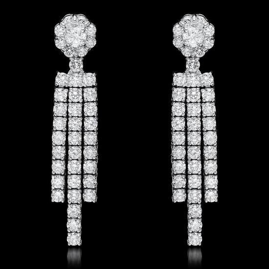 18k White Gold 2.67ct Diamond Earrings
