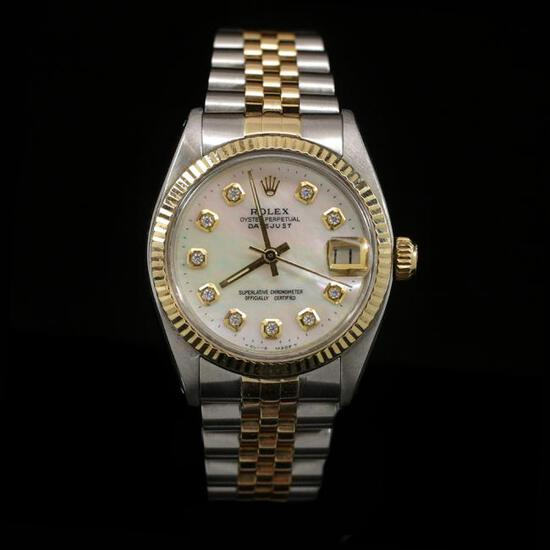 Rolex DateJust Two-Tone 31mm Women's Wristwatch