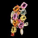 14k Gold 9.5ct Sapphire 0.20ct Diamond Ring