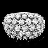 14k White Gold 3.50ct Diamond Ring