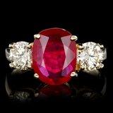 14k Yellow Gold 3.00ct Ruby 1.15ct Diamond Ring