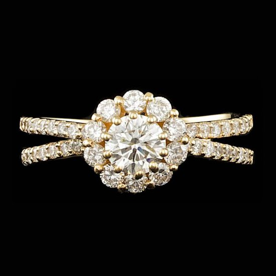 14k Yellow Gold .65ct Diamond Ring