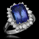 14K Gold 4.00ct Tanzanite 0.90ct Diamond Ring