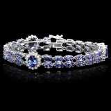 14k Gold 22ct Tanzanite 1.50ct Diamond Bracelet