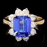 14k Gold 3.00ct Tanzanite 1.20ct Diamond Ring