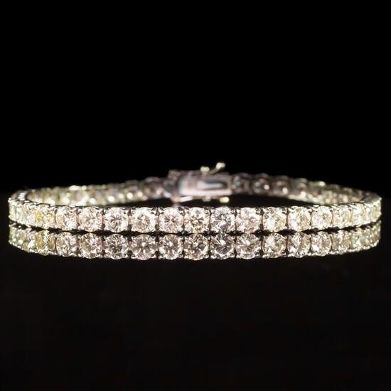 18K Gold 9.02ct Diamond Bracelet
