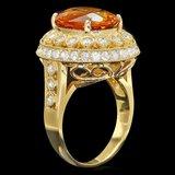 14k Gold 6.00ct Citrine 1.35ct Diamond Ring