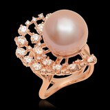 14K Rose Gold, 15mm South Sea Pearl, 2.26cts. Diamond  Ring