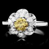 14k White Gold 1.1ct Diamond Ring