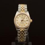 Rolex Two-Tone Datejust 31mm Diamond Dial Diamond Bezel Womens