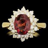 14k Gold 1.50ct Tourmaline 2.10ct Diamond Ring
