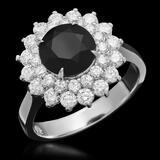 14K Gold 1.87ct Fancy Color Diamond 2.92ct Diamond Ring