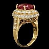 14k Yellow Gold 6.50ct Ruby 0.80ct Diamond Ring