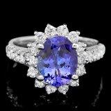 18k Gold 2.00ct Tanzanite 0.80ct Diamond Ring