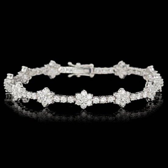 18k White Gold 6.80ct Diamond Bracelet