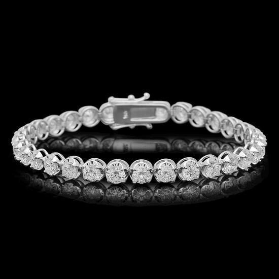 18K Gold 8.54ct Diamond Bracelet