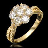 14k Yellow Gold 1.90ct Diamond Ring