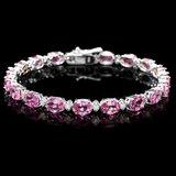 14k Gold 17ct Sapphire .75ct Diamond Bracelet