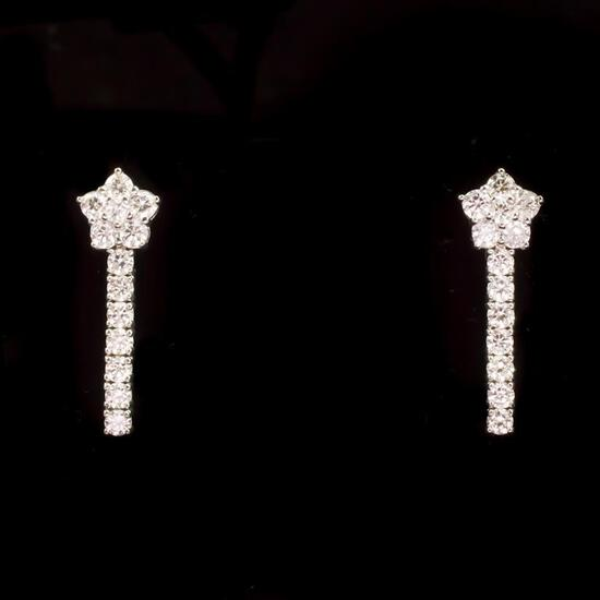 14k Gold 1.90ct Diamond Earrings