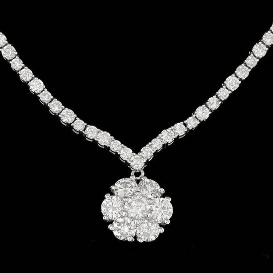 18k White Gold 11.2ct Diamond Necklace