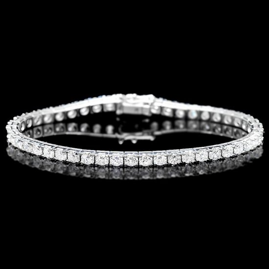 18k White Gold 8.00ct Diamond Bracelet
