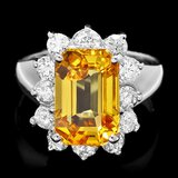 14k Gold 6.20ct Sapphire 1.15ct Diamond Ring