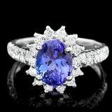 14k Gold 2.65ct Tanzanite 0.75ct Diamond Ring