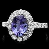 14k Gold 1.82ct Tanzanite 0.92ct Diamond Ring