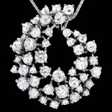 14k White Gold 2.80ct Diamond Pendant