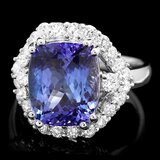 14k Gold 6.00ct Tanzanite 1.20ct Diamond Ring