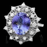 14k Gold 4.00ct Tanzanite 0.70ct Diamond Ring