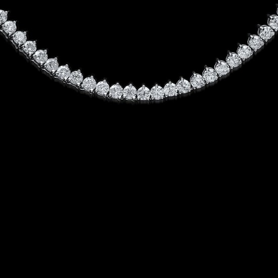 18K White Gold 4.42cts. Diamond Necklace