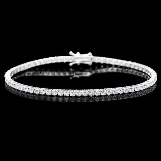 18k White Gold 4.50ct Diamond Bracelet
