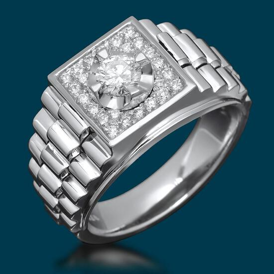 14k White Gold 0.45ct & 1.02ct Diamond Ring