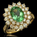 14K Gold 1.94ct Tourmaline 1.45ct Diamond Ring