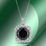 14K Gold 10.81cts Black Diamond Pendant