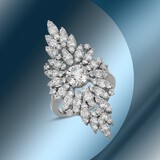 14K Gold & 3.75cts Diamond Ring