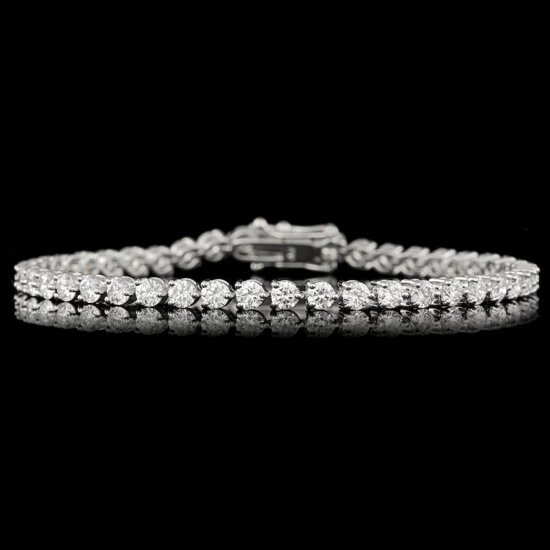 18k White Gold 6.25ct Diamond Bracelet