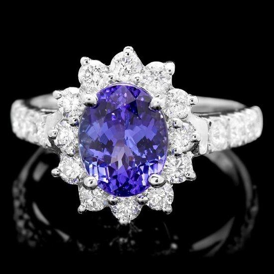 14k Gold 2.20ct Tanzanite 1.00ct Diamond Ring
