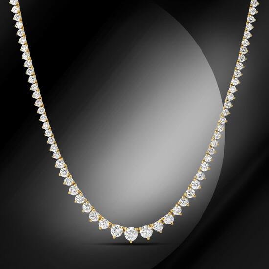 14K Gold 7.80cts Diamond Necklace