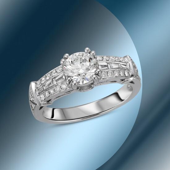 14K Gold 1.81cts Diamond Ring