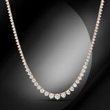 14K Gold 8.20cts Diamond Necklace