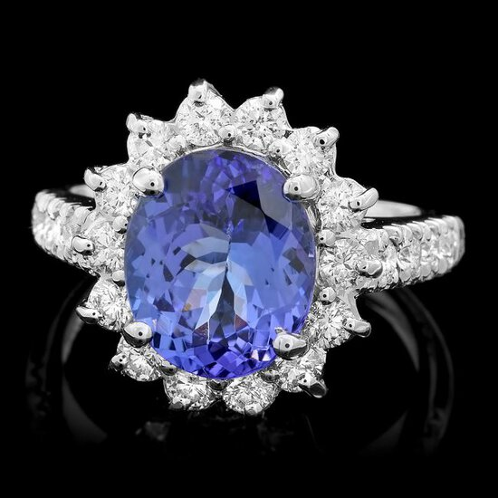 14k Gold 3.50ct Tanzanite 1.00ct Diamond Ring