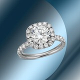 GIA Certified 18K Gold 2.78cts Diamond Ring