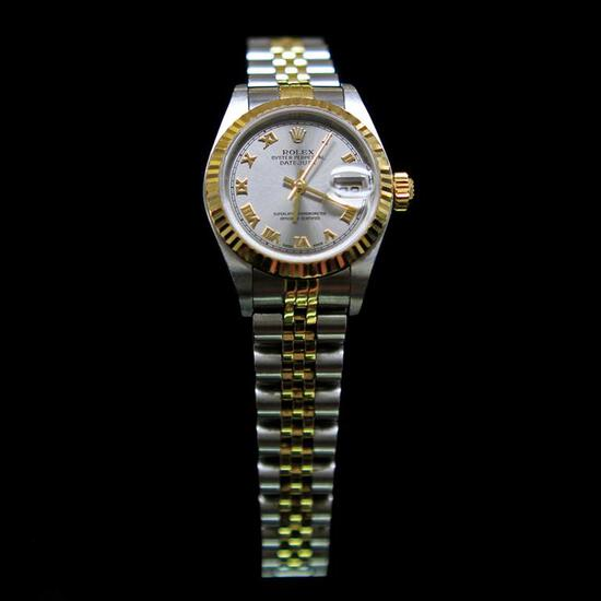Rolex Two-Tone DateJust 26mm Womens Wristwatch