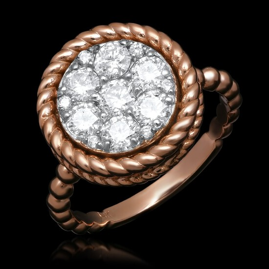 14K Yellow Gold 1.13cts. Diamond Ring