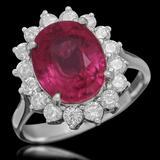 14K Gold 5.11ct Ruby 0.95ct Diamond Ring