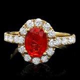 14k Gold 2.40ct Sapphire 1.00ct Diamond Ring