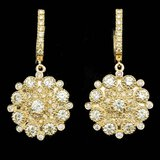 14k Yellow Gold 5.00ct Diamond Earrings